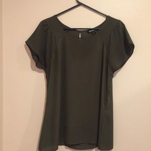 Express olive green blouse; size M; like new